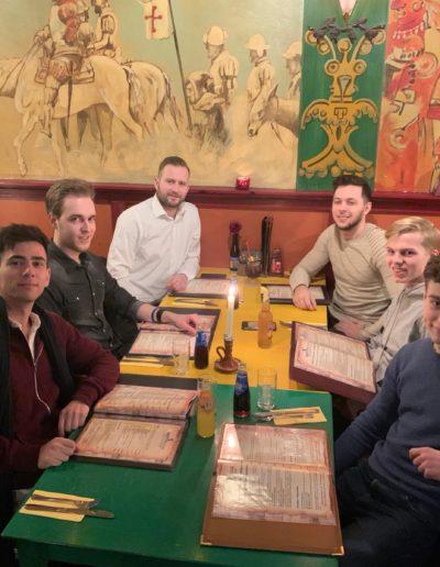 Uit eten met het team Fitleads