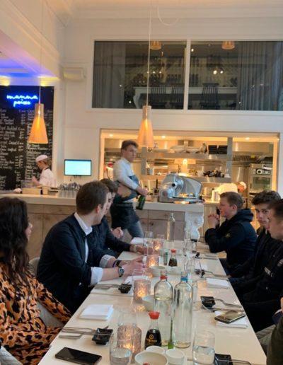 Chique dineren met het Fitleads team